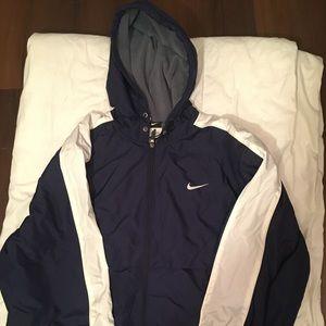 Nike Adult Parka Jacket Adult size Large Navy Blue